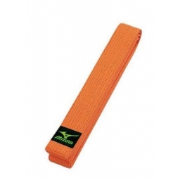CEINTURE JUDO OBI ORANGE MIZUNO