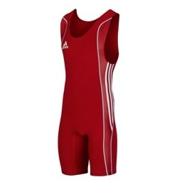 TENUE LUTTE HOMME ROUGE ADIDAS